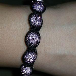 💕4 for 20 item! Macrame pink crystal bracelet💕